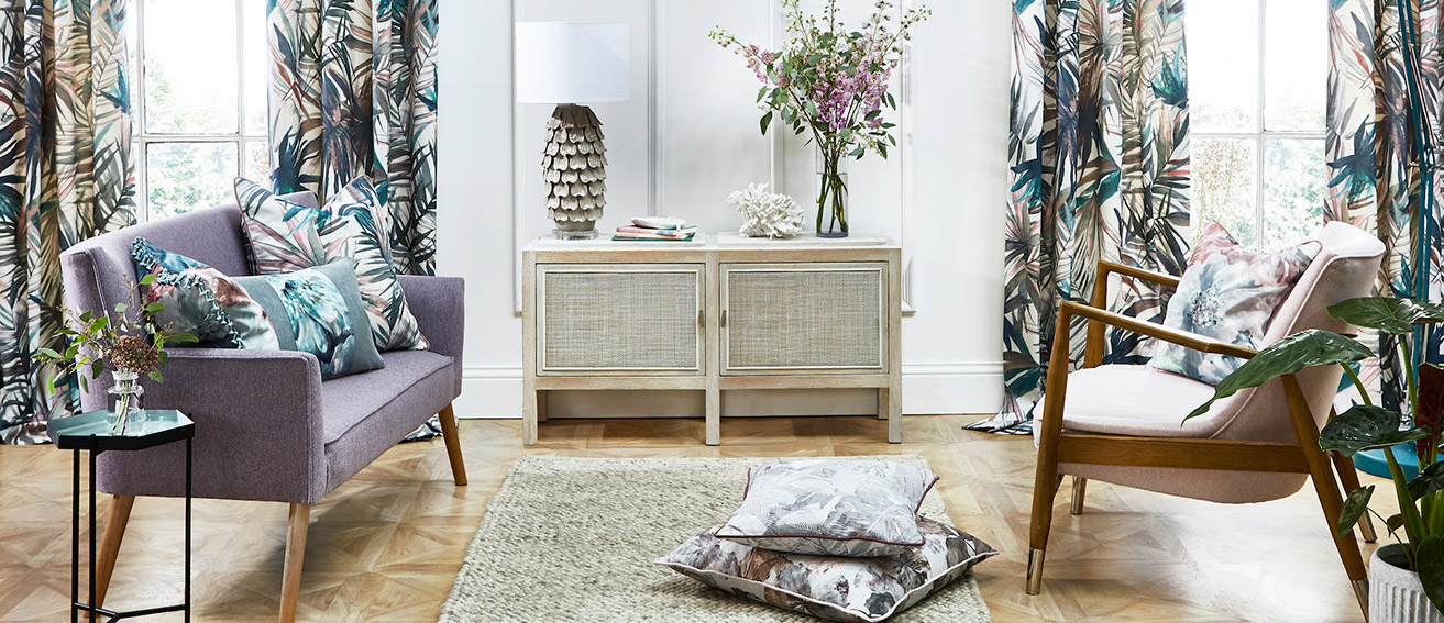 Pestigious Textiles - Tropical flora and fauna takes centre stage with the stunning new Maui range.