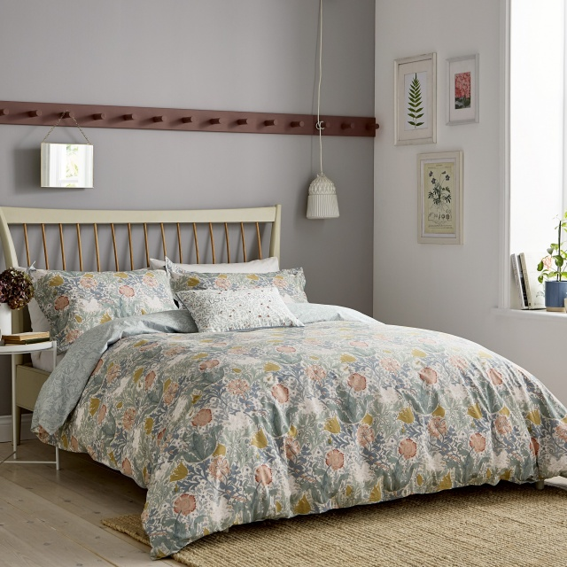 William Morris Compton Teal  Bedding