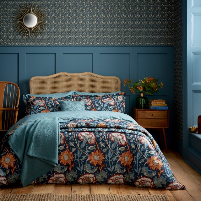 William Morris Pink & Rose Teal Bedding