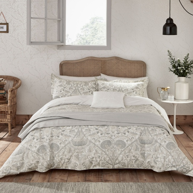 William Morris Pure Lodden Pebble Bedding