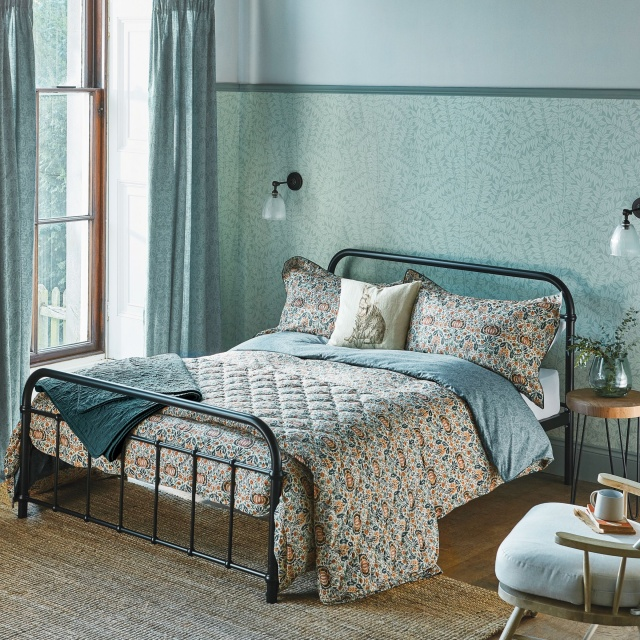 William Morris Little Chintz Teal Bedding