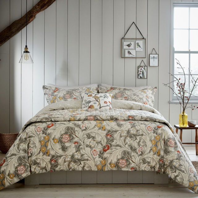 William Morris Leicester Grey Bedding