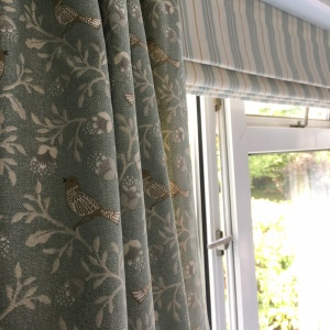 Tweet Curtains & Roman Blind