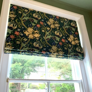 Golden Lily Roman Blind