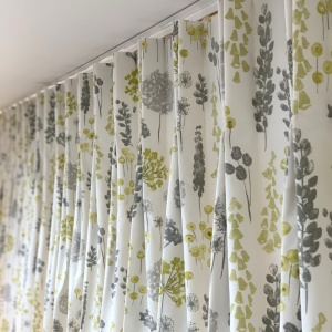 Herbacious Lime Curtains