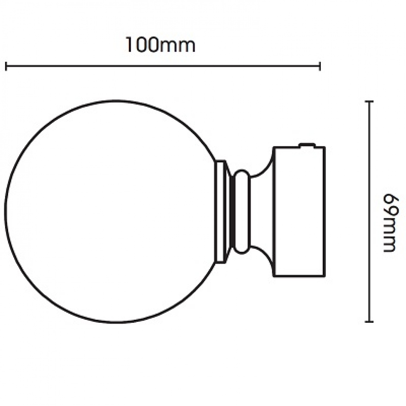 Swish Belgravia 35mm Graphite Metal Pole