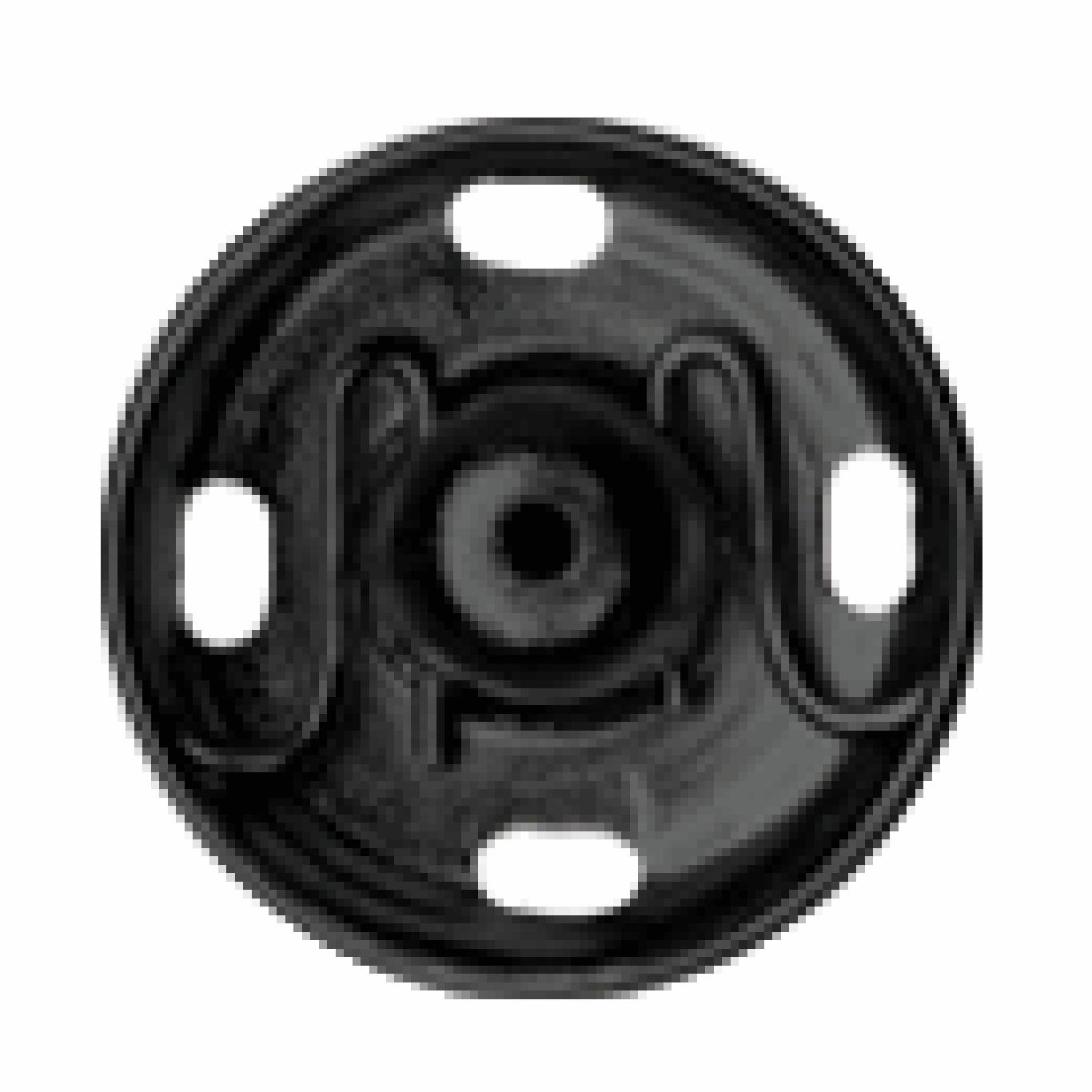 Black Sew-on Snap Fasteners | 9mm