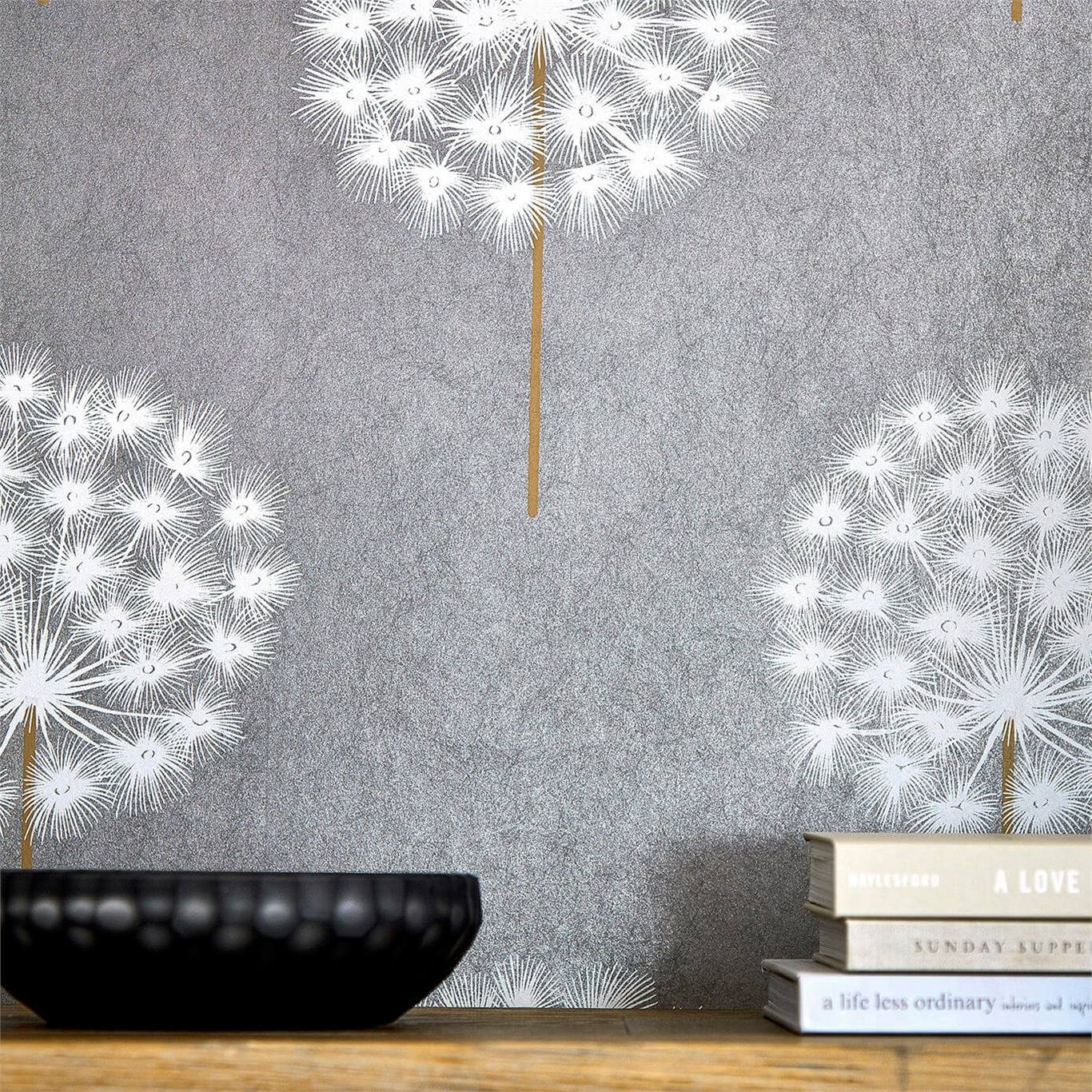 Harlequin Amity Pewter/Brass Wallpaper 111888