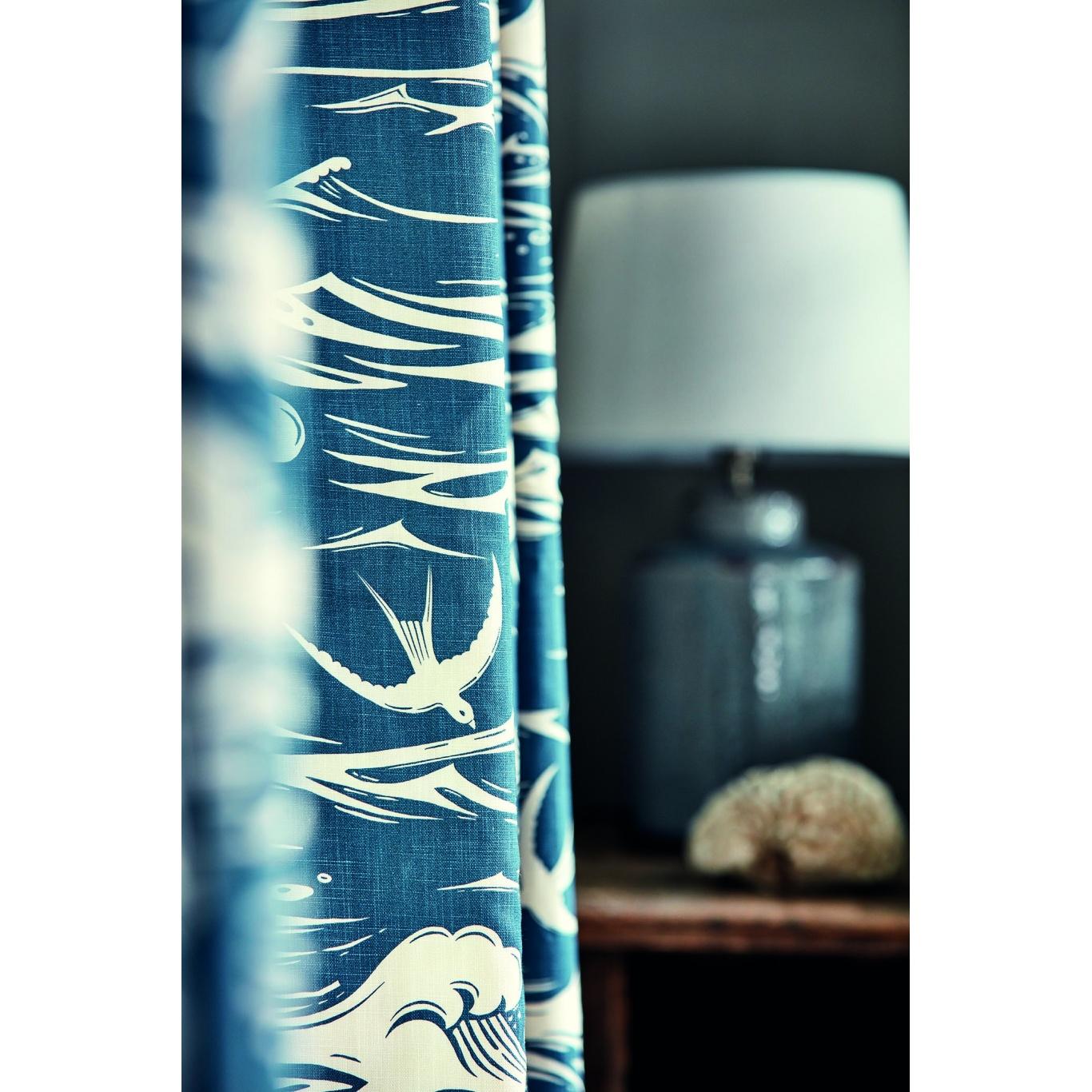 Sanderson Swallows at Sea Navy Fabric 226741
