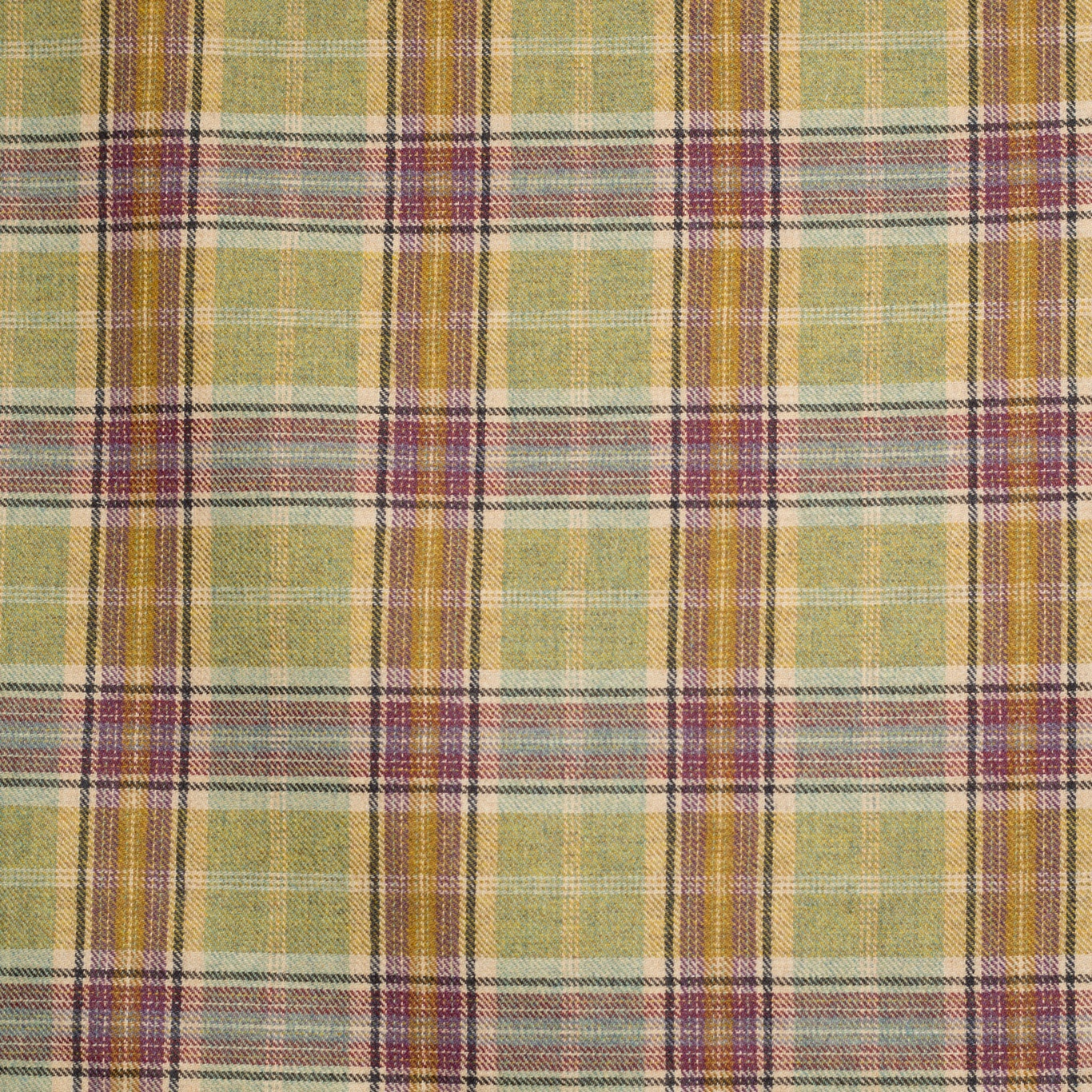 Image of Chess Designs Balmoral Olivine Fabric
