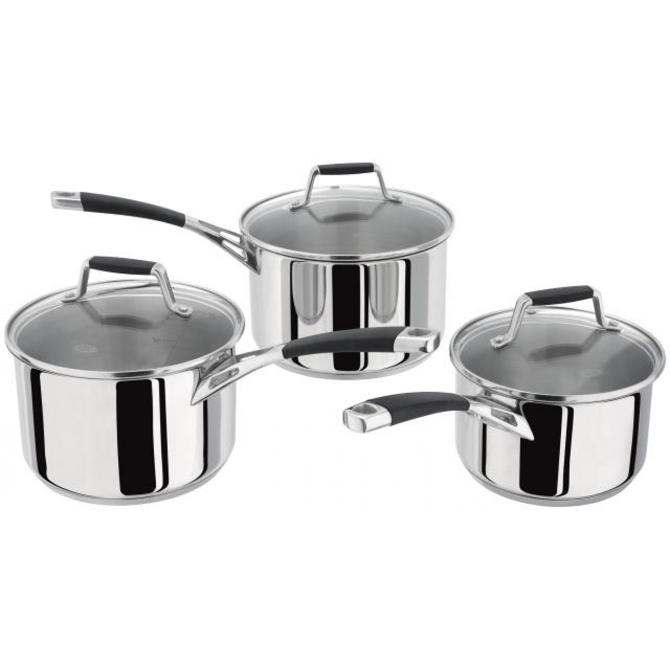Image of Stellar 5000 Induction 3 Piece Saucepan Set