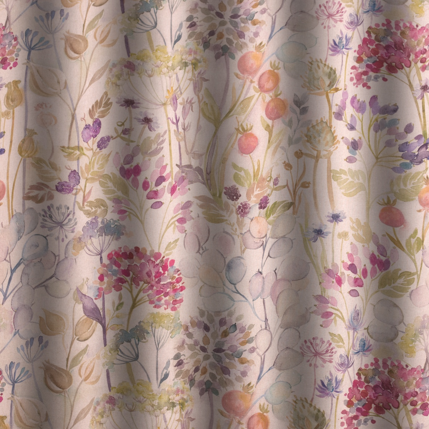 Voyage Hedgerow Linen Curtain Fabric