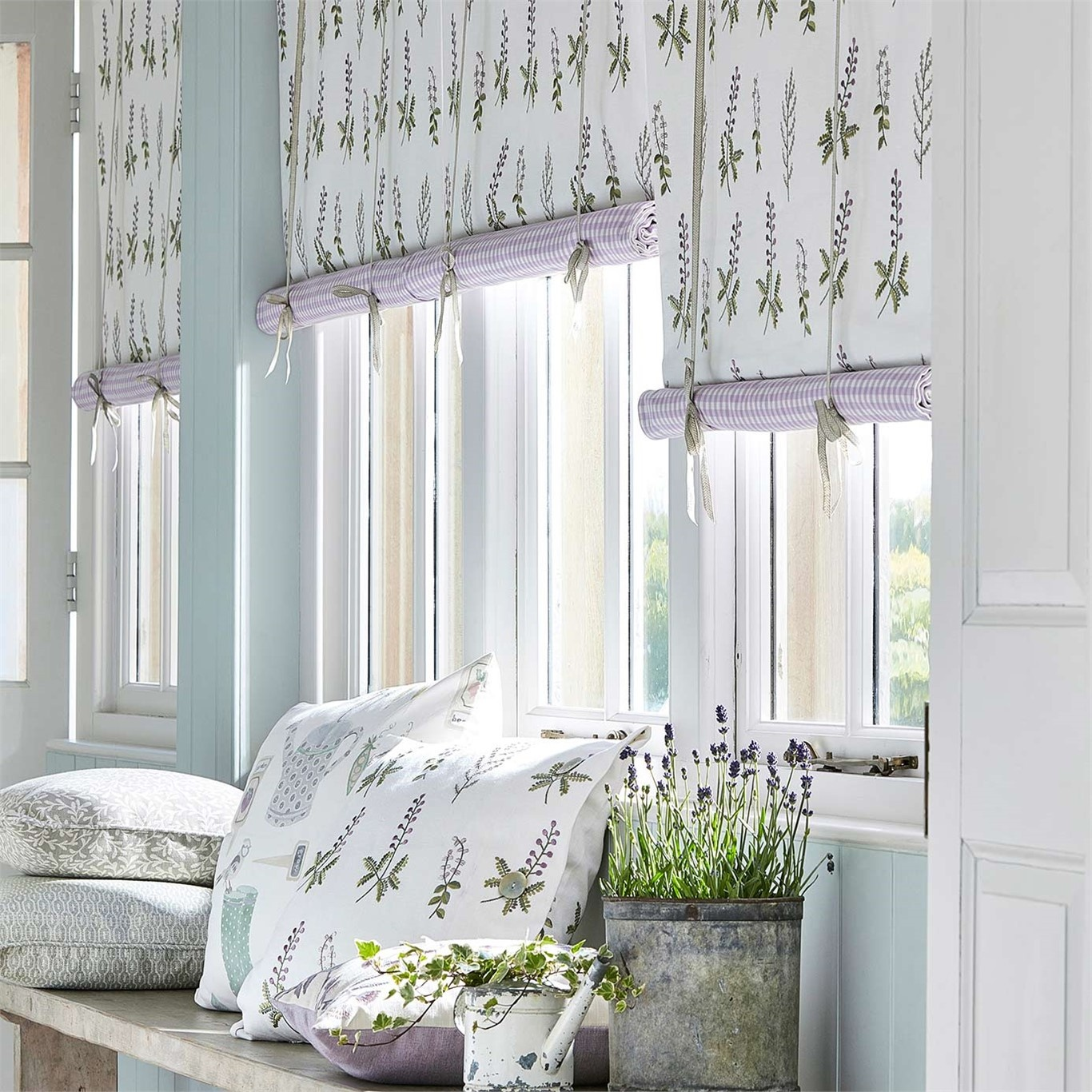 Sanderson Home Bilberry Celadon/Fig Fabric 236425