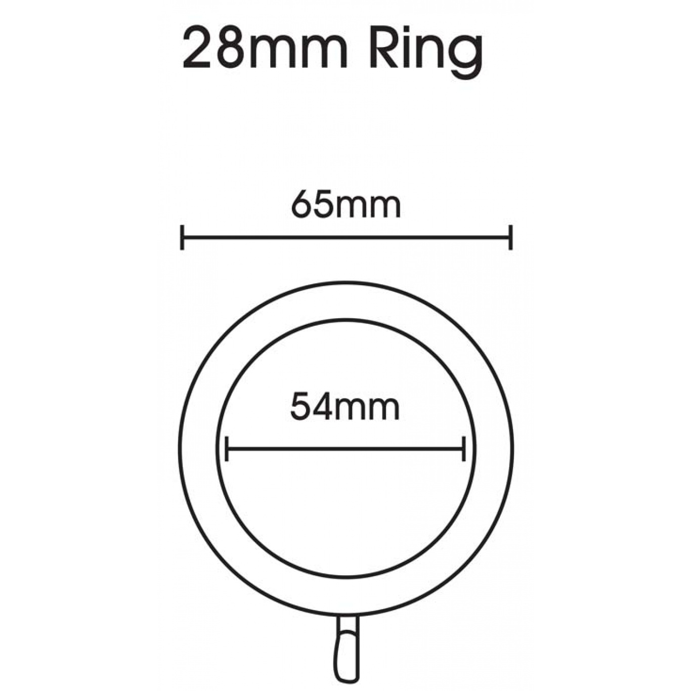 Swish Elements 28mm Graphite Rings Pack of 4