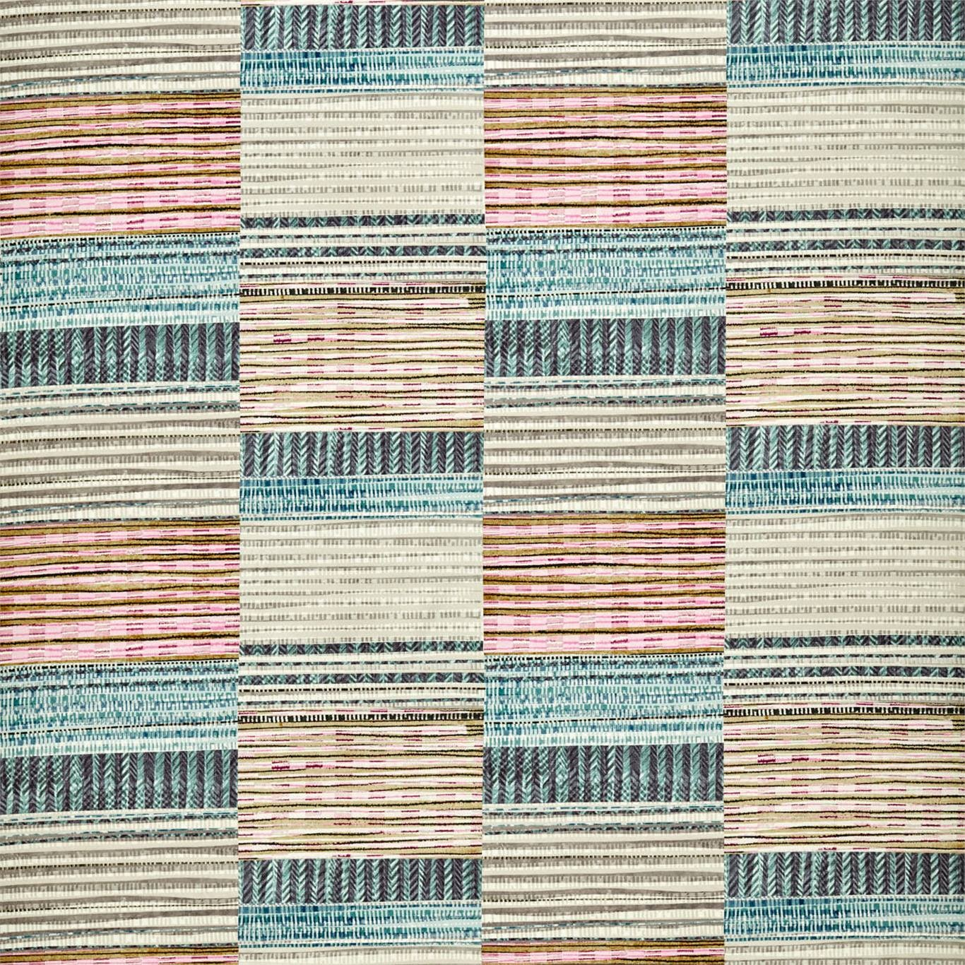 Image of Harlequin Benirras Marine/Cerise/Pebble Fabric 120916
