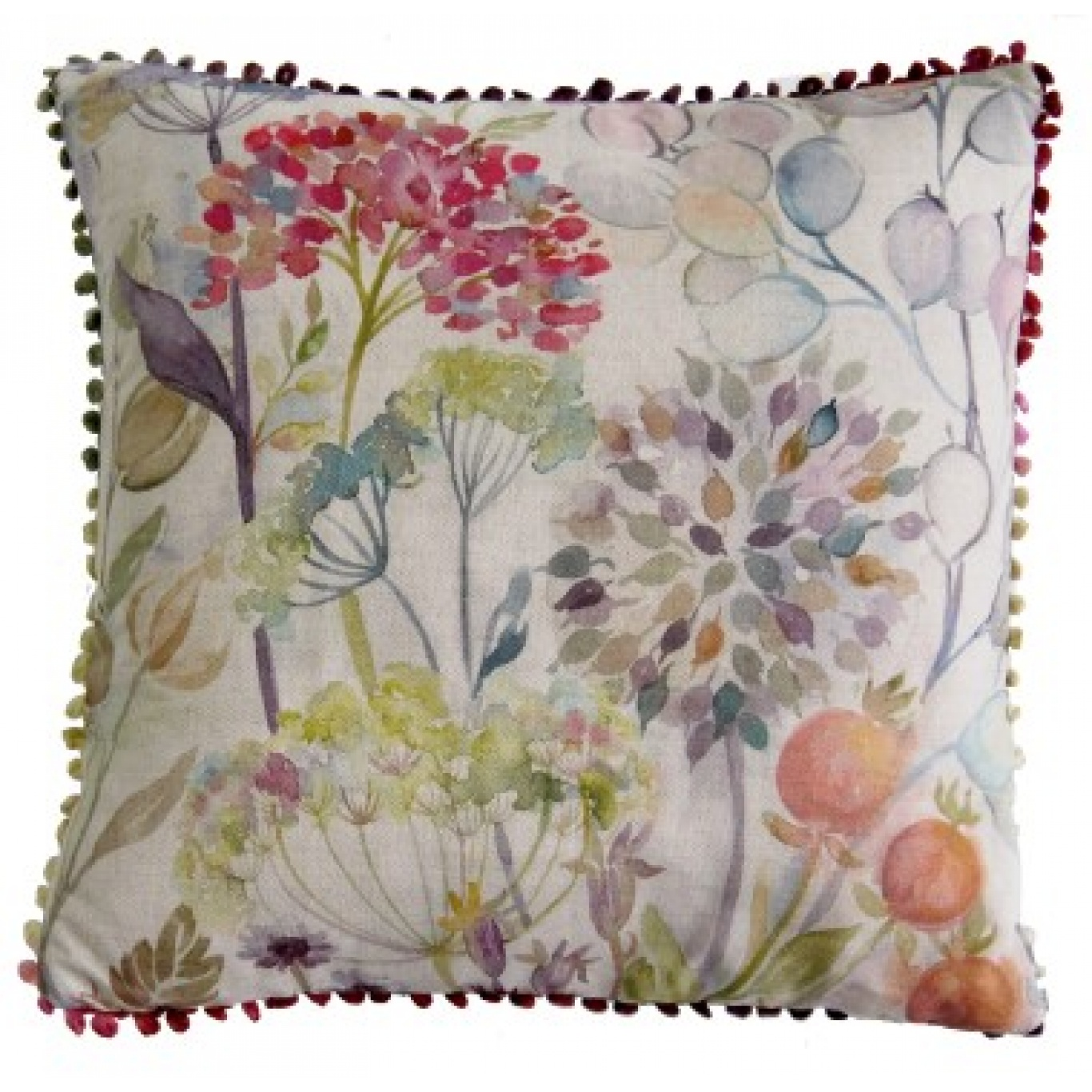 Image of Voyage Hedgerow Square Linen Cushion
