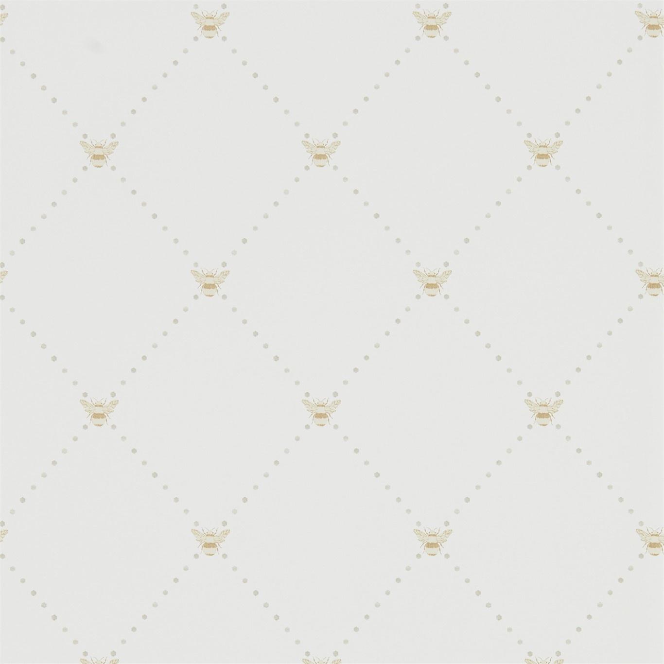 Image of Sanderson Home Nectar Linen/Honey Wallpaper 216358