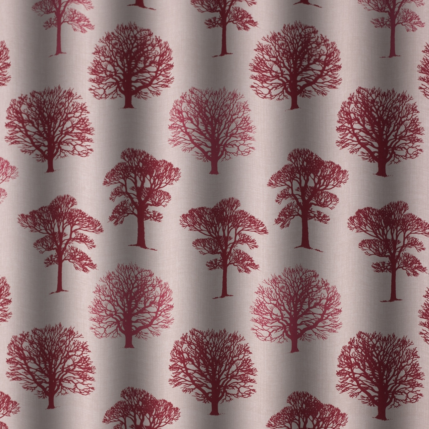 Gordon Smith Oak Red Curtain Fabric