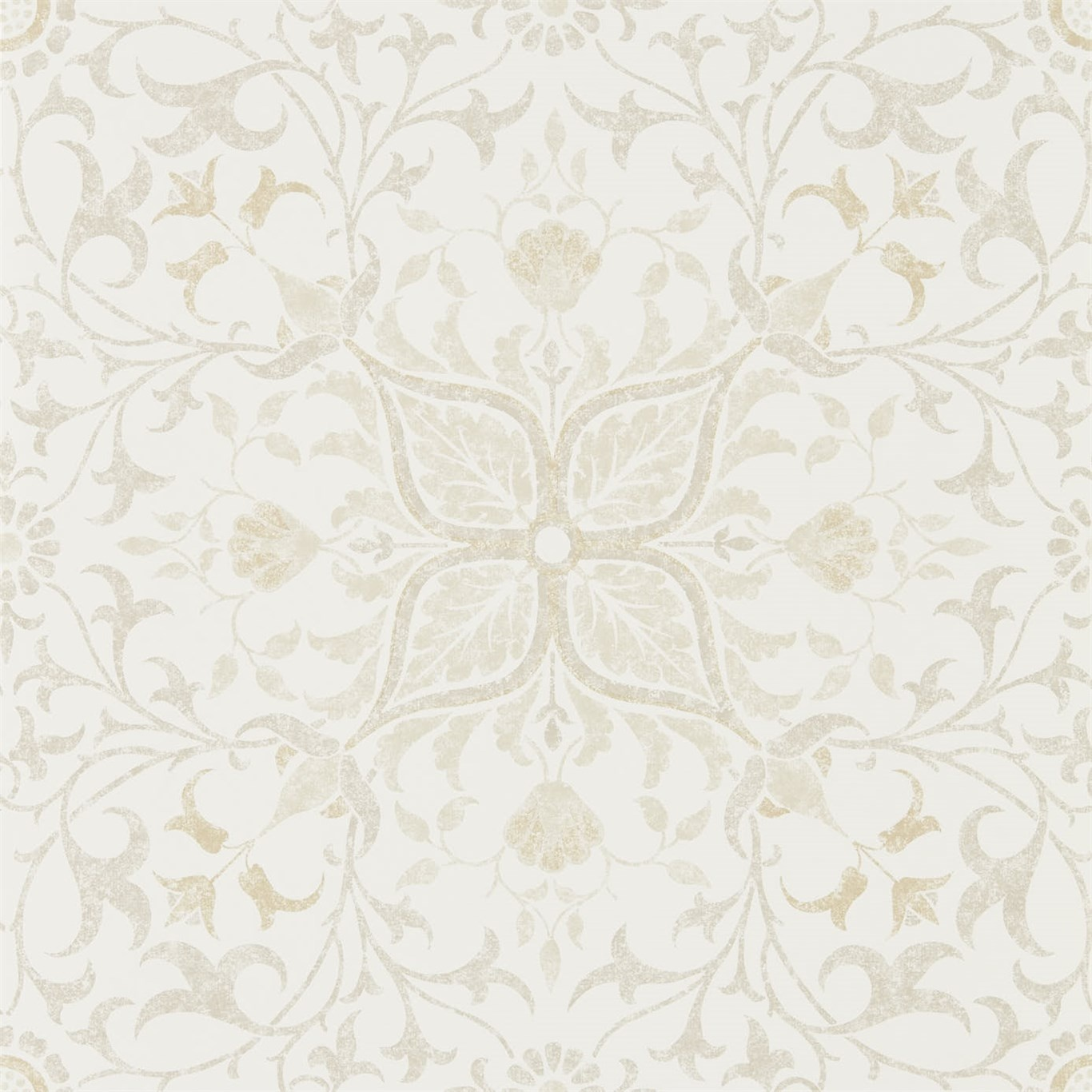 Image of Morris & Co Pure Net Ceiling Ecru/Linen Wallpaper 216039