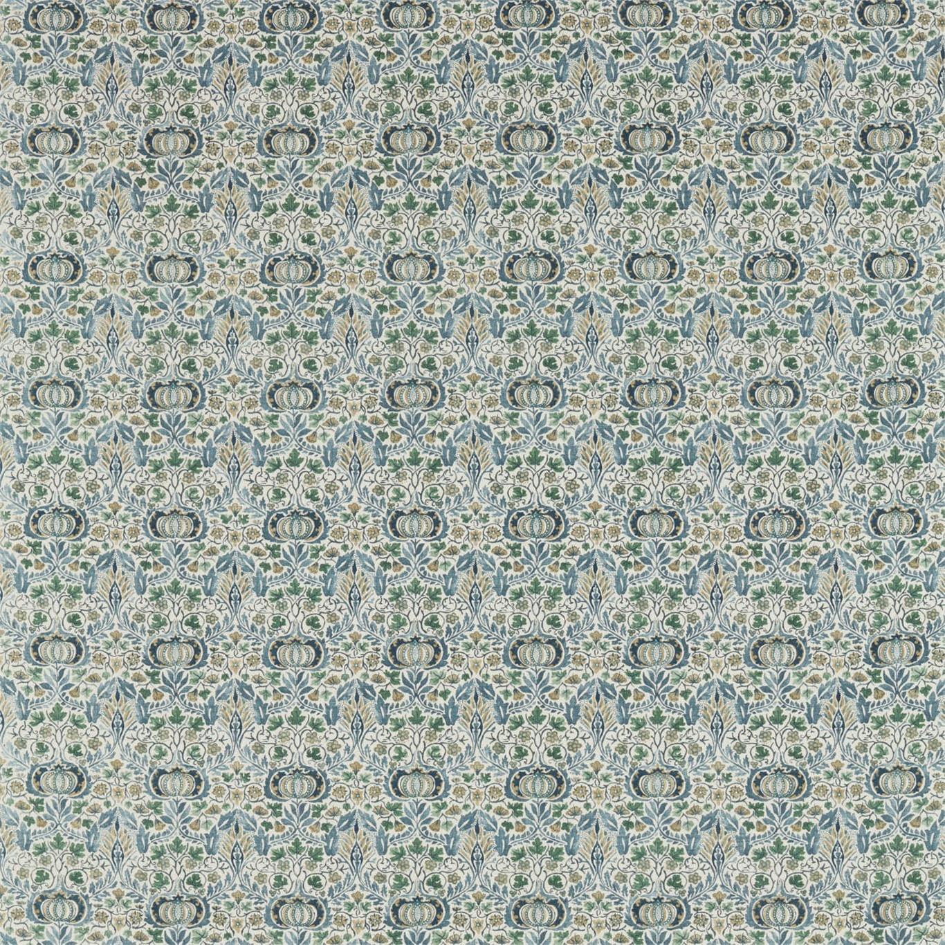 Image of Morris & Co Little Chintz Blue/Fennel Fabric 226406