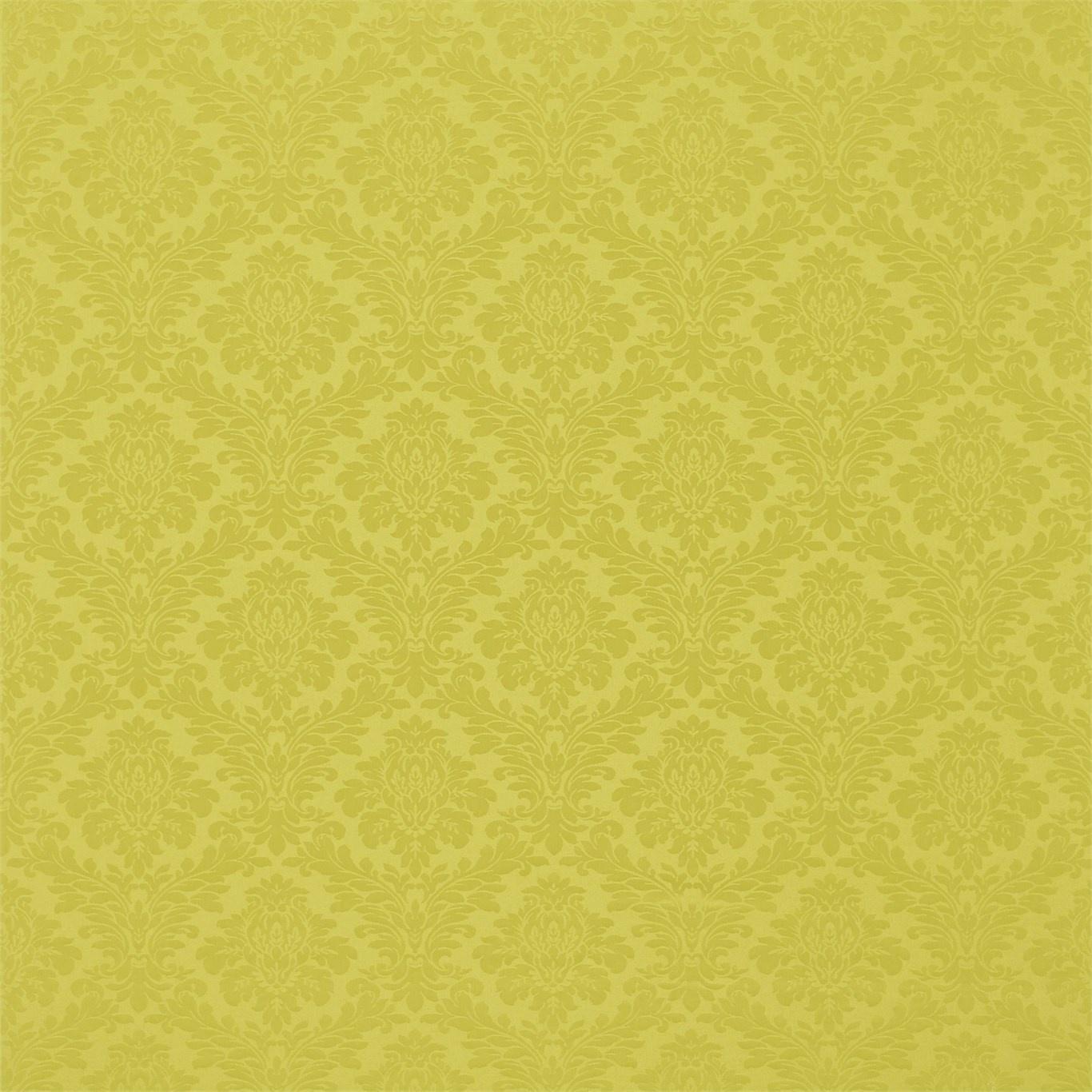 Image of Sanderson Lymington Damask Chartreuse Fabric 232624