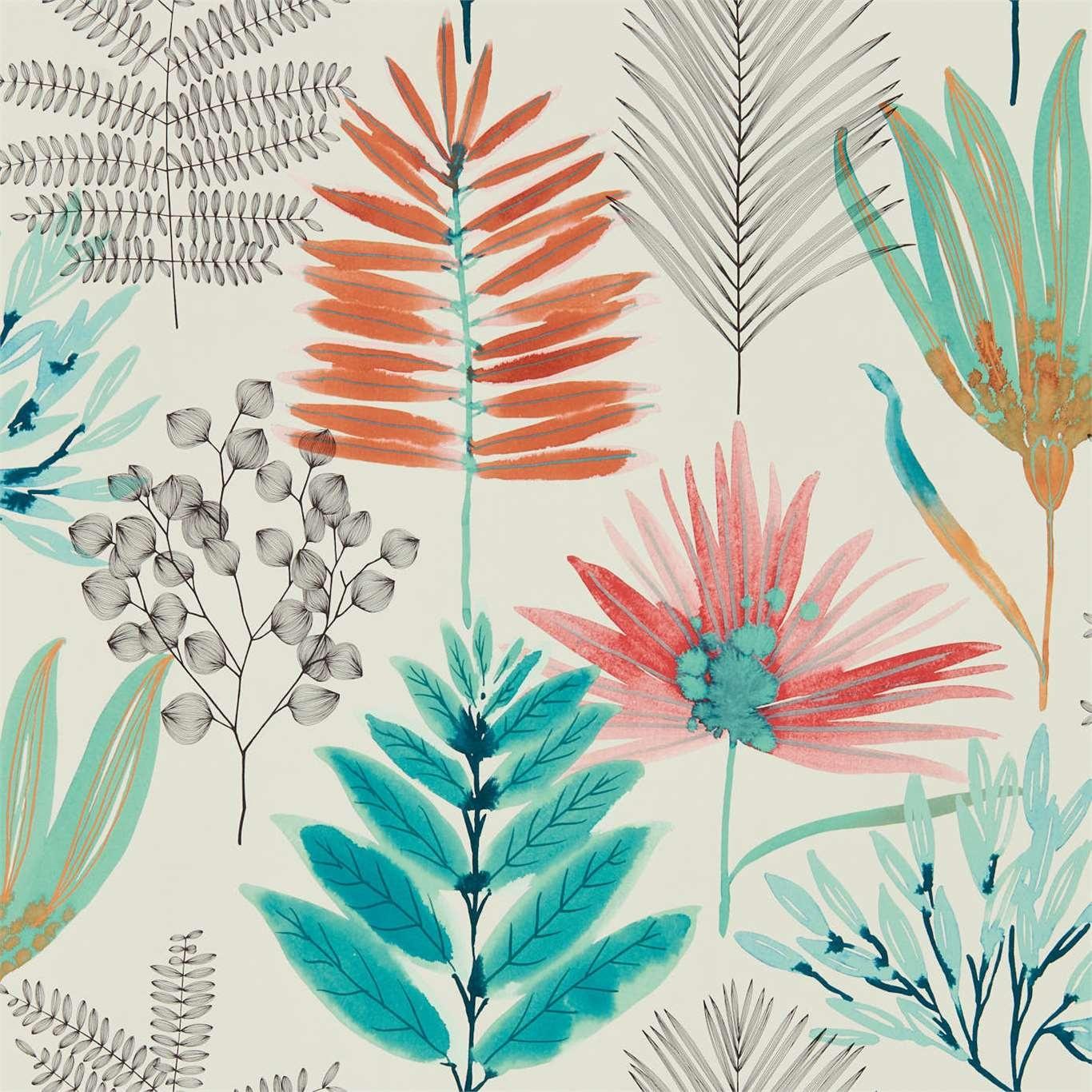 Image of Harlequin Yasuni Paprika/Kiwi Wallpaper 111763