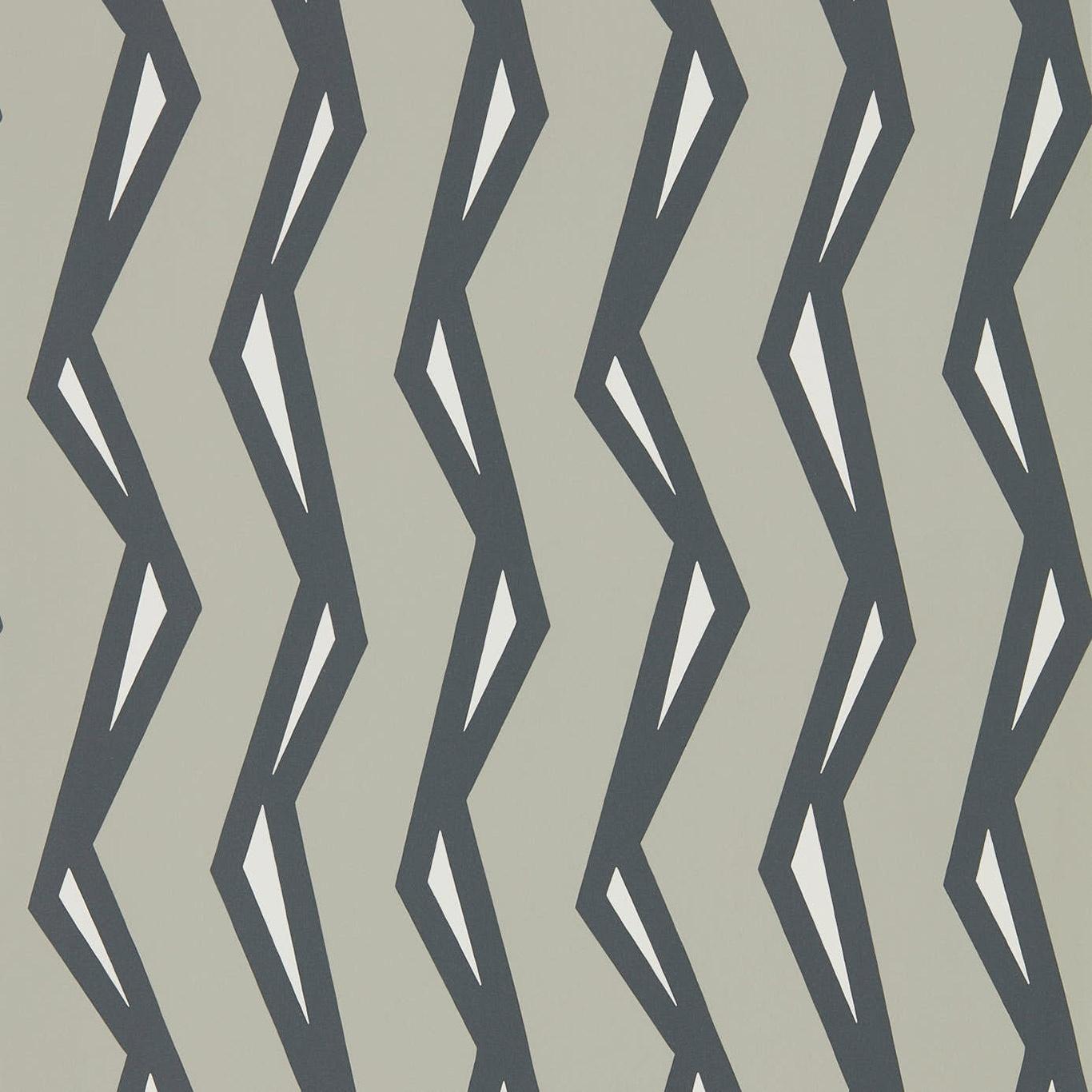 Image of Scion Rayo Steel/Liquorice Wallpaper 111814