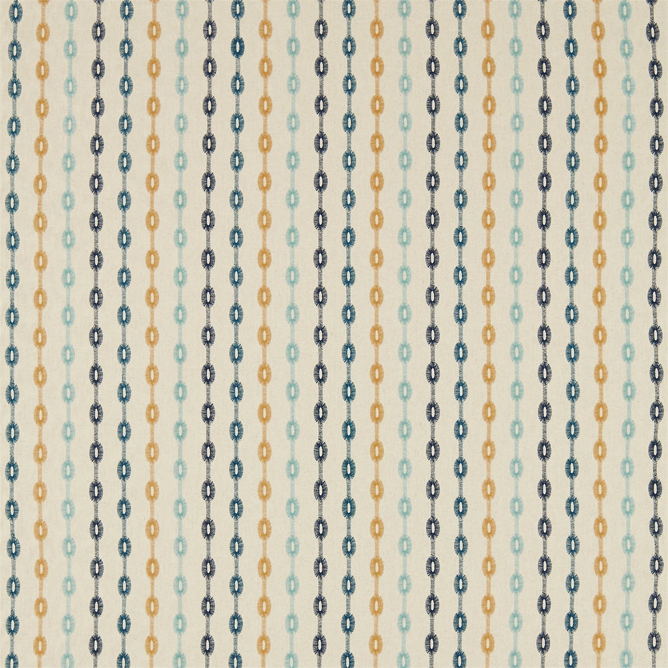 Image of Sanderson Home Shaker Stripe Dijon Curtain Fabric 235889