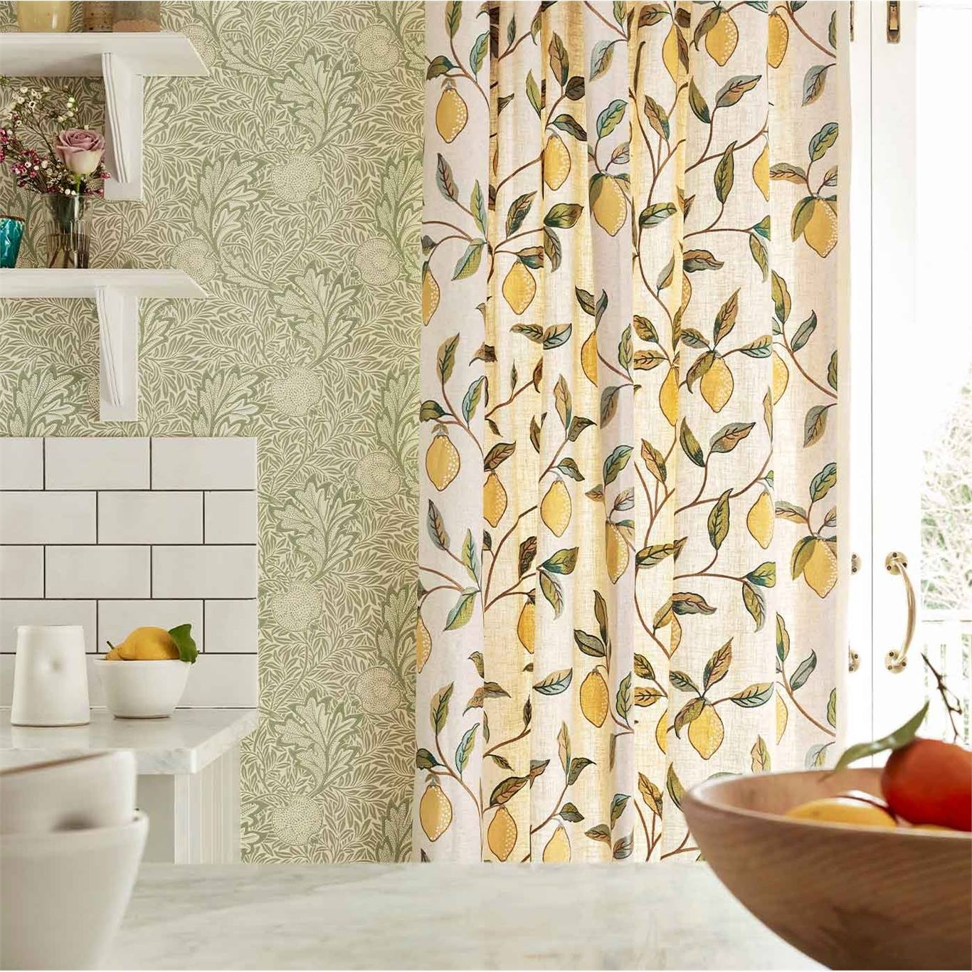 Morris & Co Apple Bay Leaf Wallpaper 216689