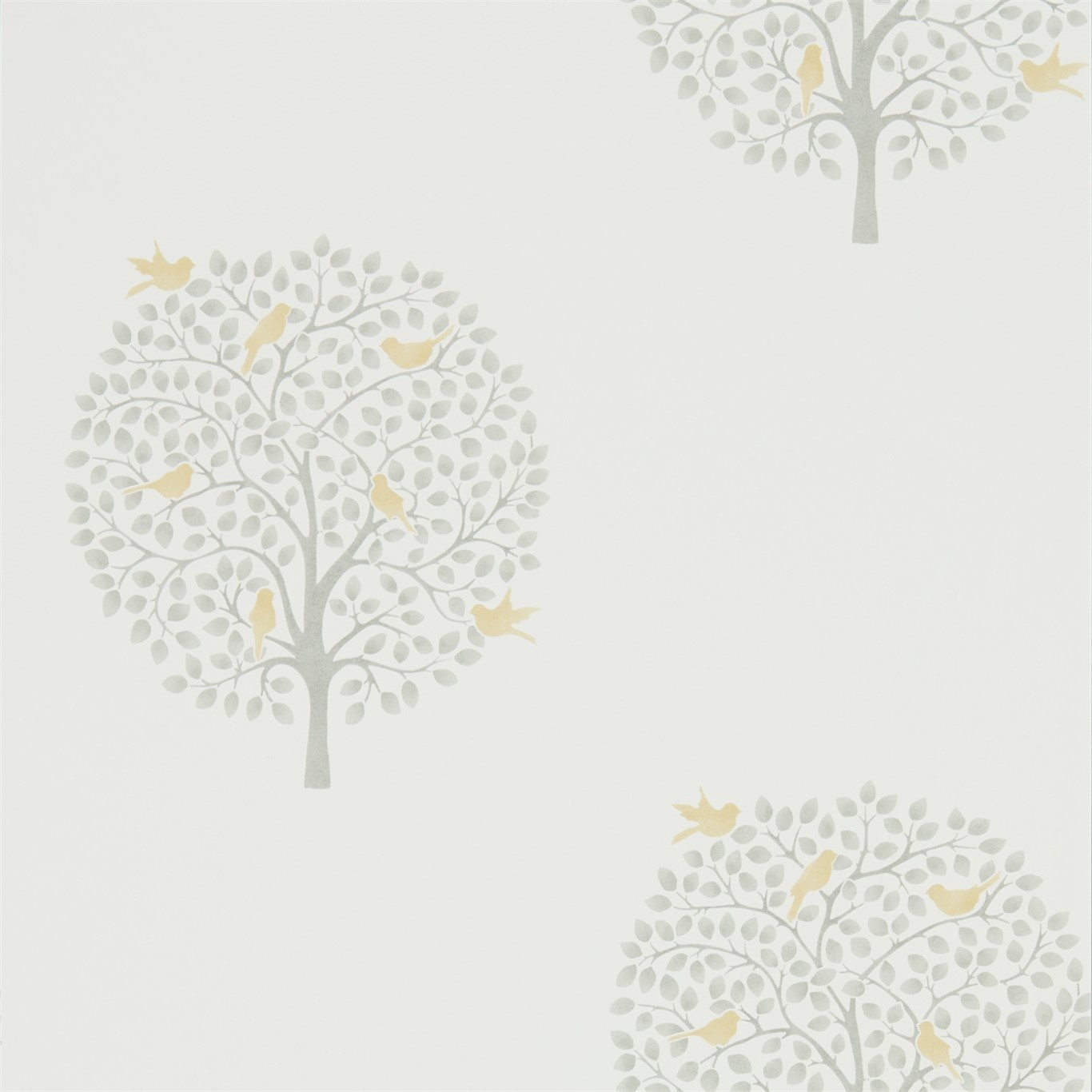 Image of Sanderson Home Bay Tree Dijon/Mole Wallpaper 216360