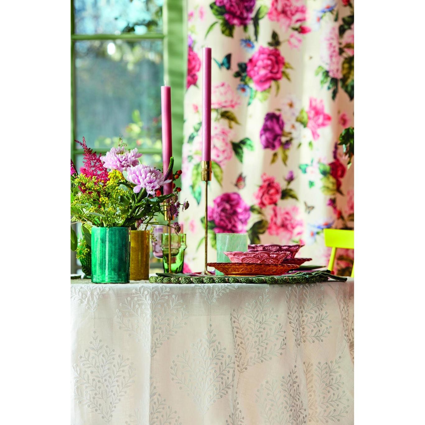 Sanderson Orchard Tree Gardenia Green Fabric 237184