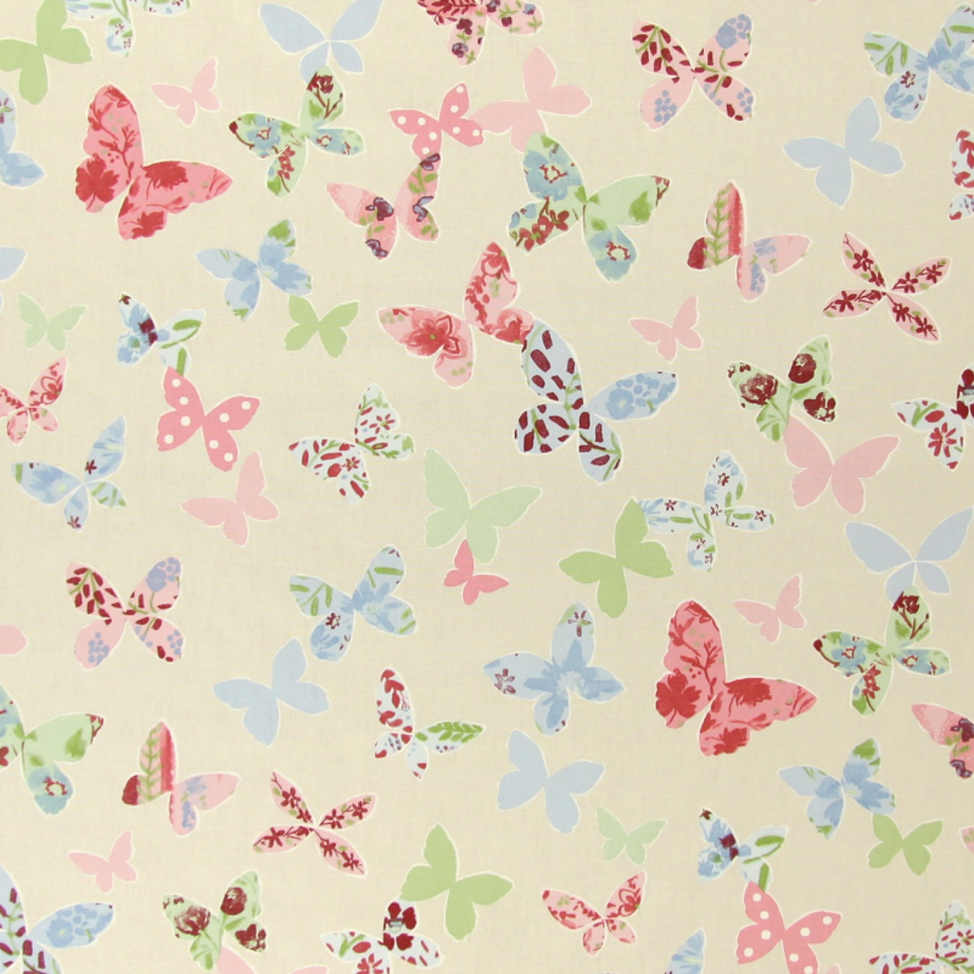 Image of Prestigious Butterfly Vintage Curtain Fabric