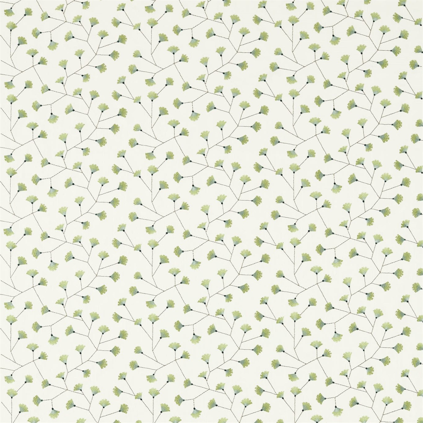 Image of Sanderson Home Gingko Trail Winter Rocket Curtain Fabric 235886