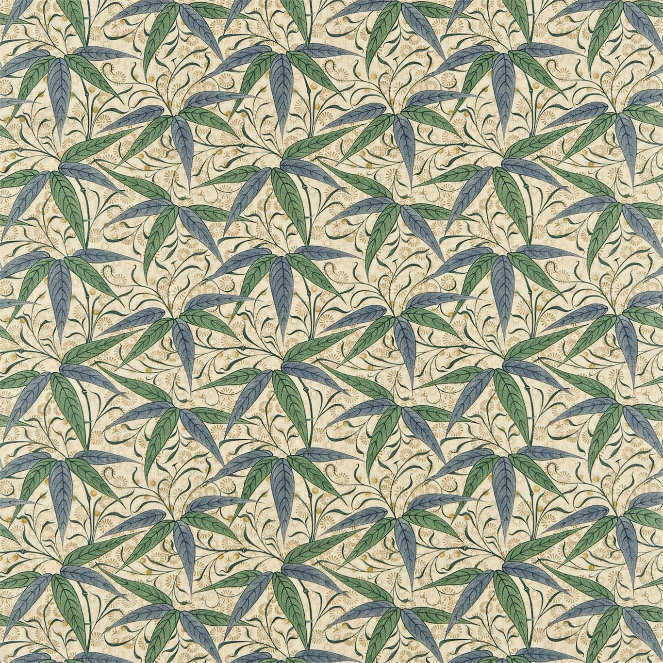 Image of Morris & Co Bamboo Thyme/Artichoke Curtain Fabric 222526