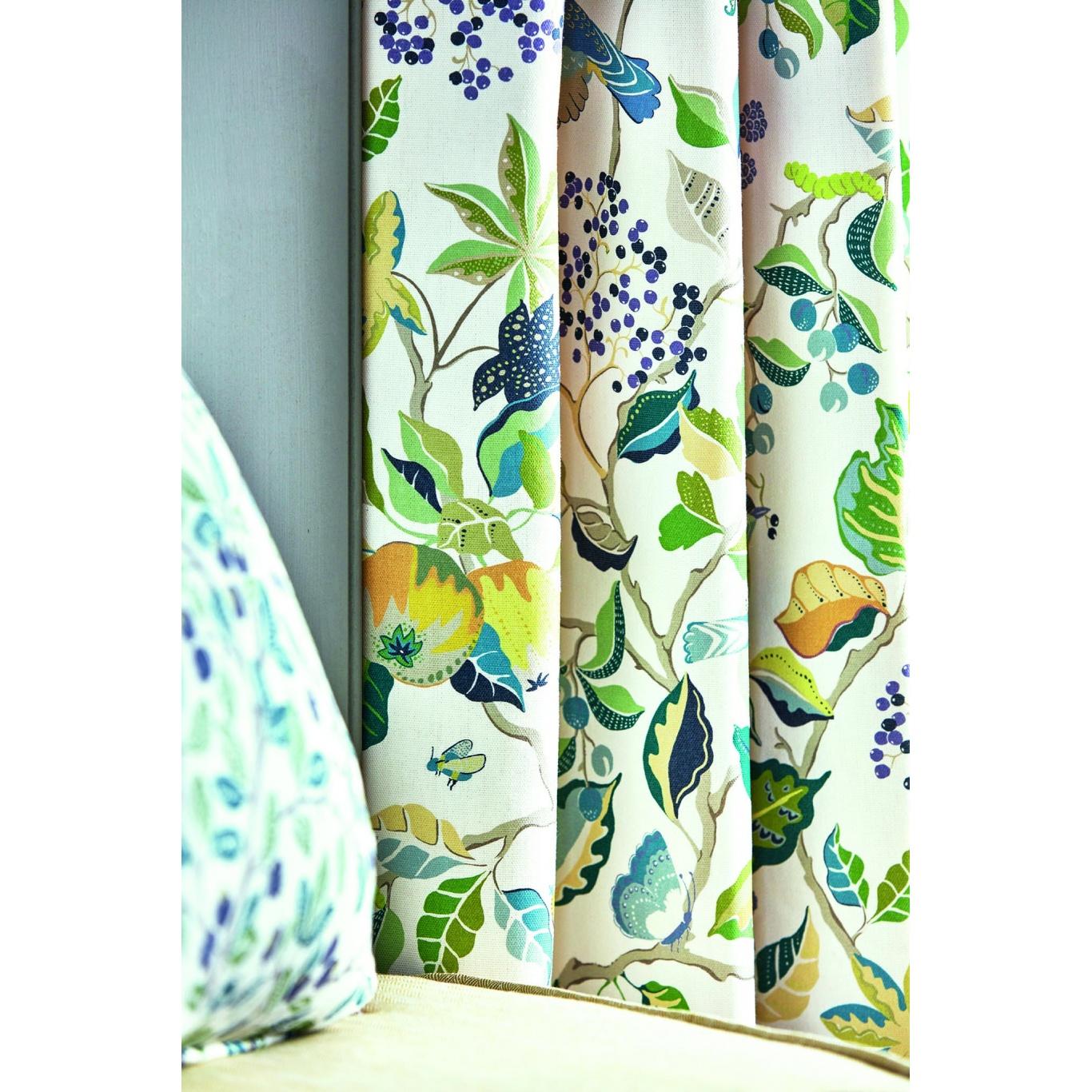 Sanderson Birds & Berries Southwold Blue Fabric 226728