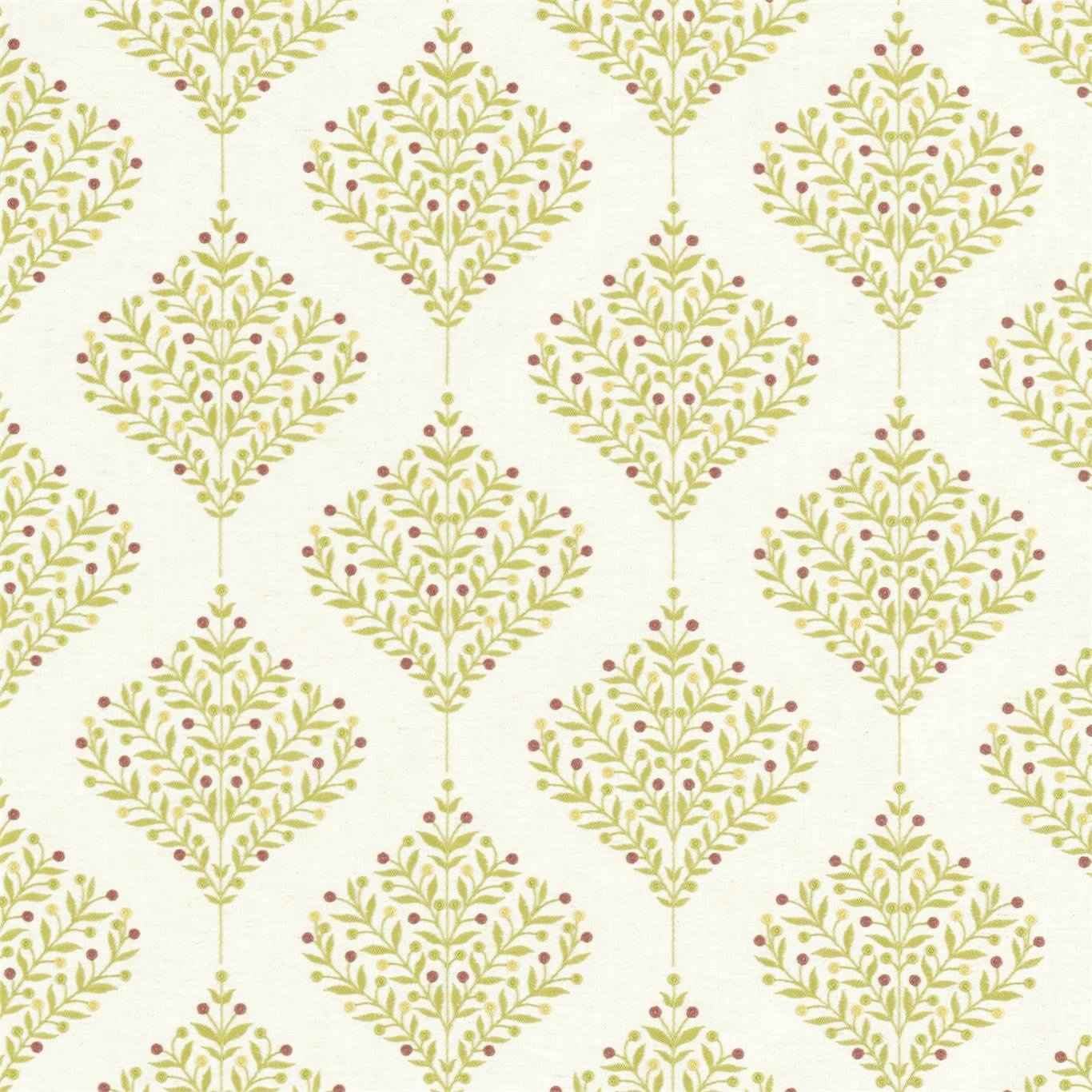 Image of Sanderson Orchard Tree Lime Fabric 237185