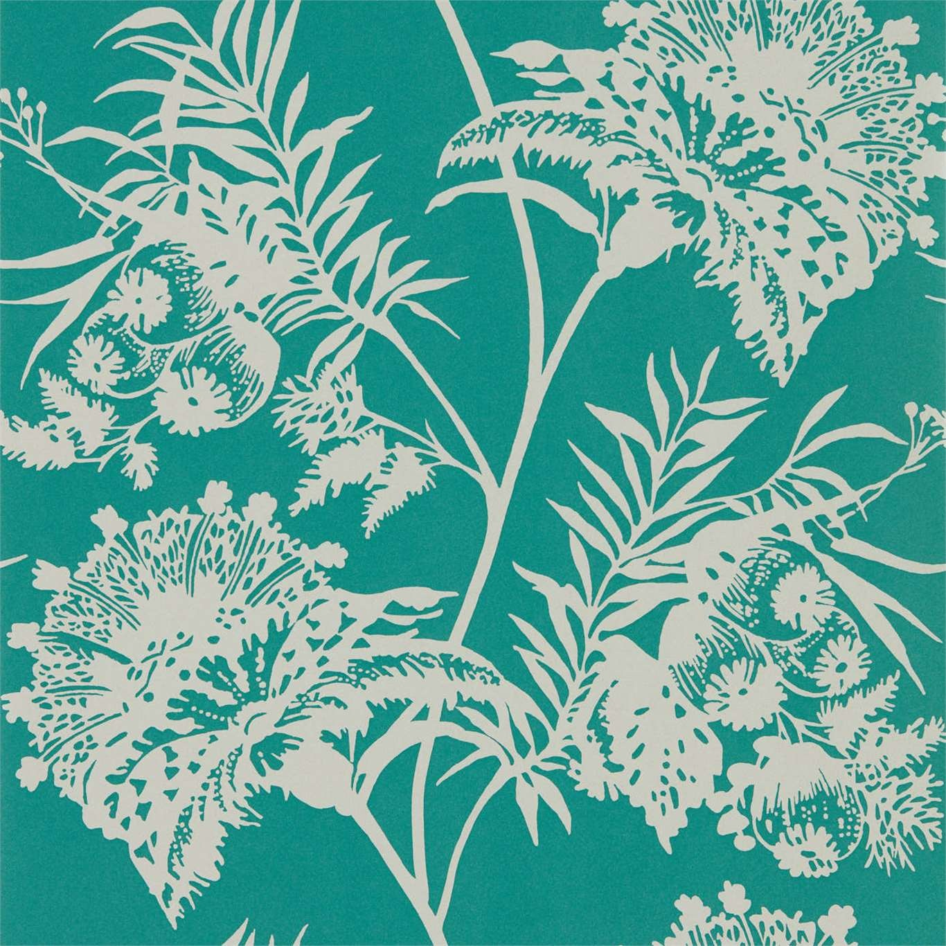 Image of Harlequin Bavero Emerald Wallpaper 111765