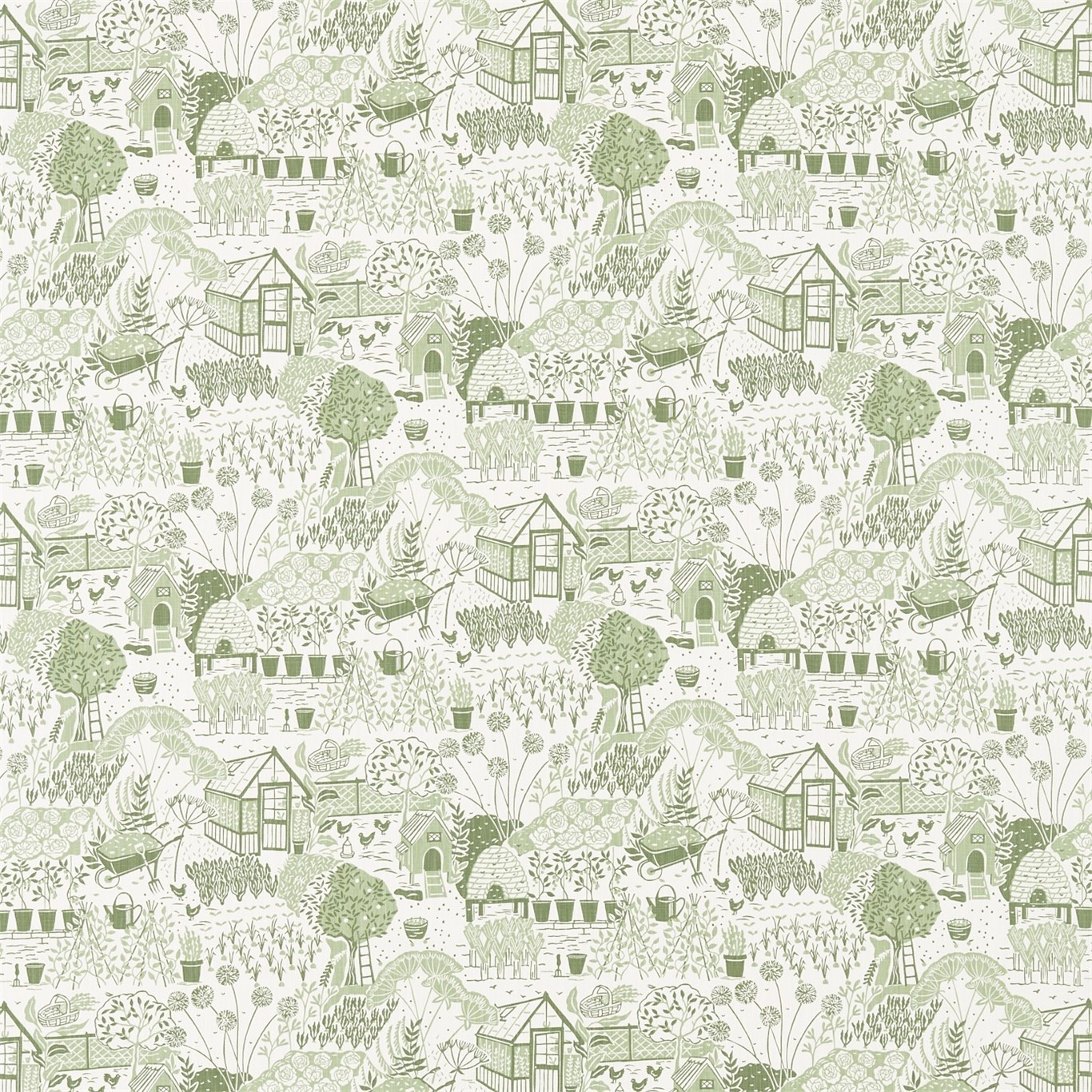 Image of Sanderson Home The Allotment Fennel Fabric 226360