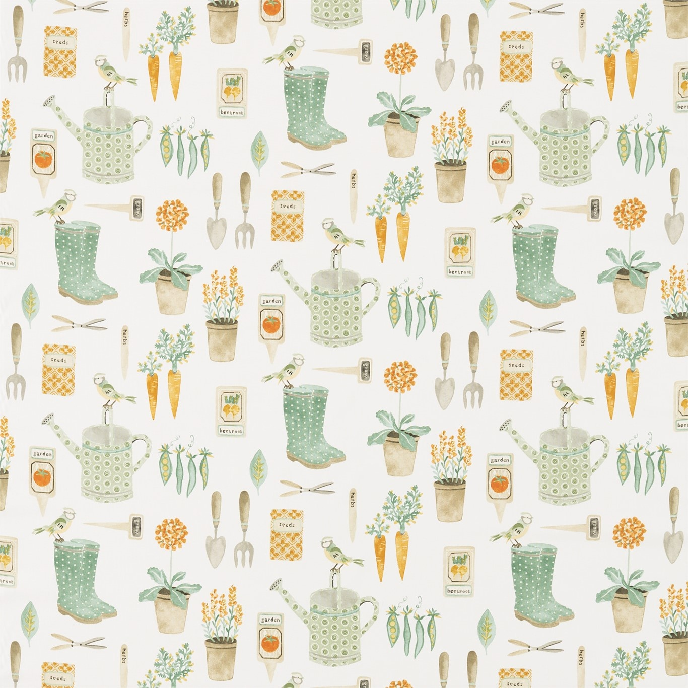 Image of Sanderson Home The Gardener Fennel Fabric 226348