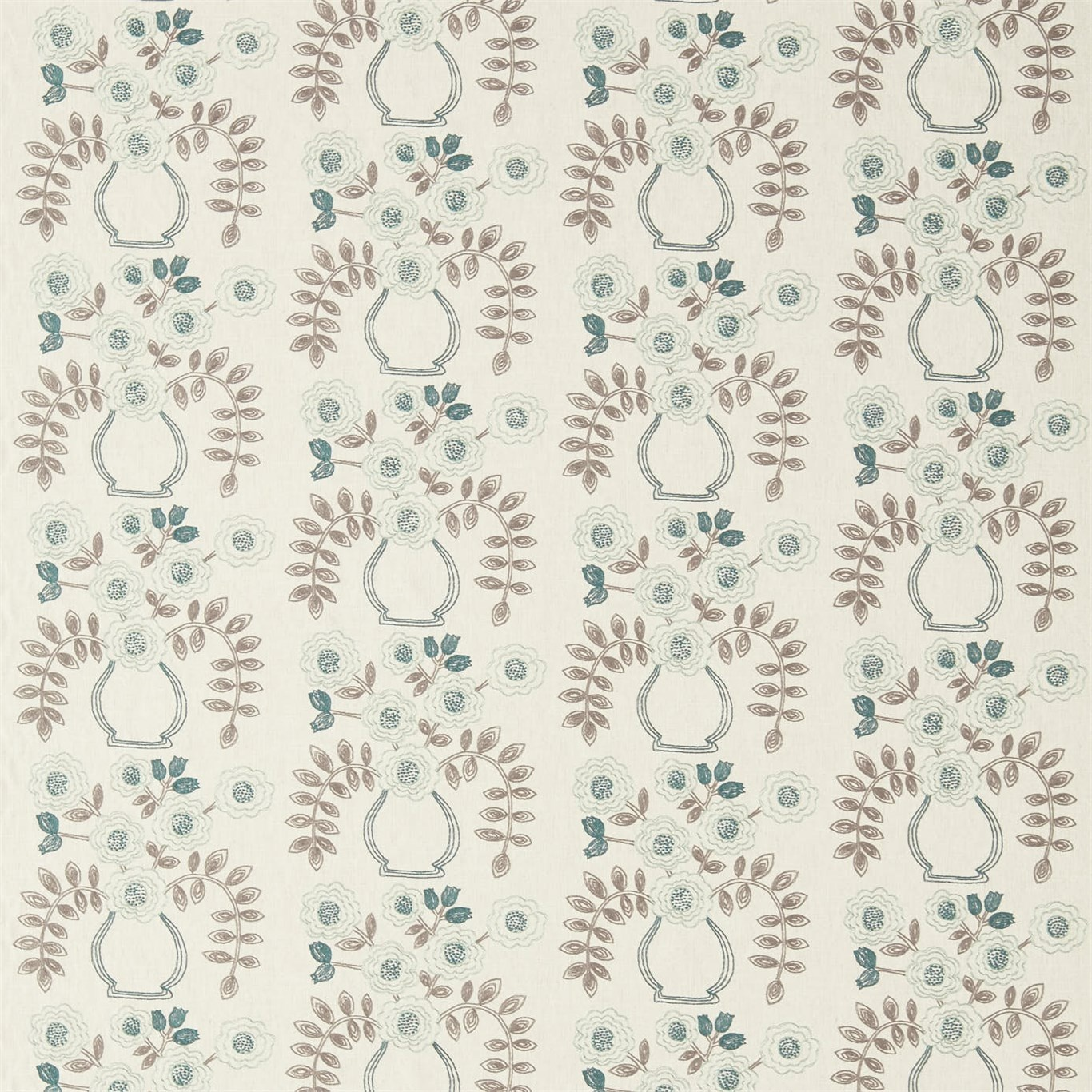 Image of Sanderson Home Flower Pot Winter Rocket Curtain Fabric 235879