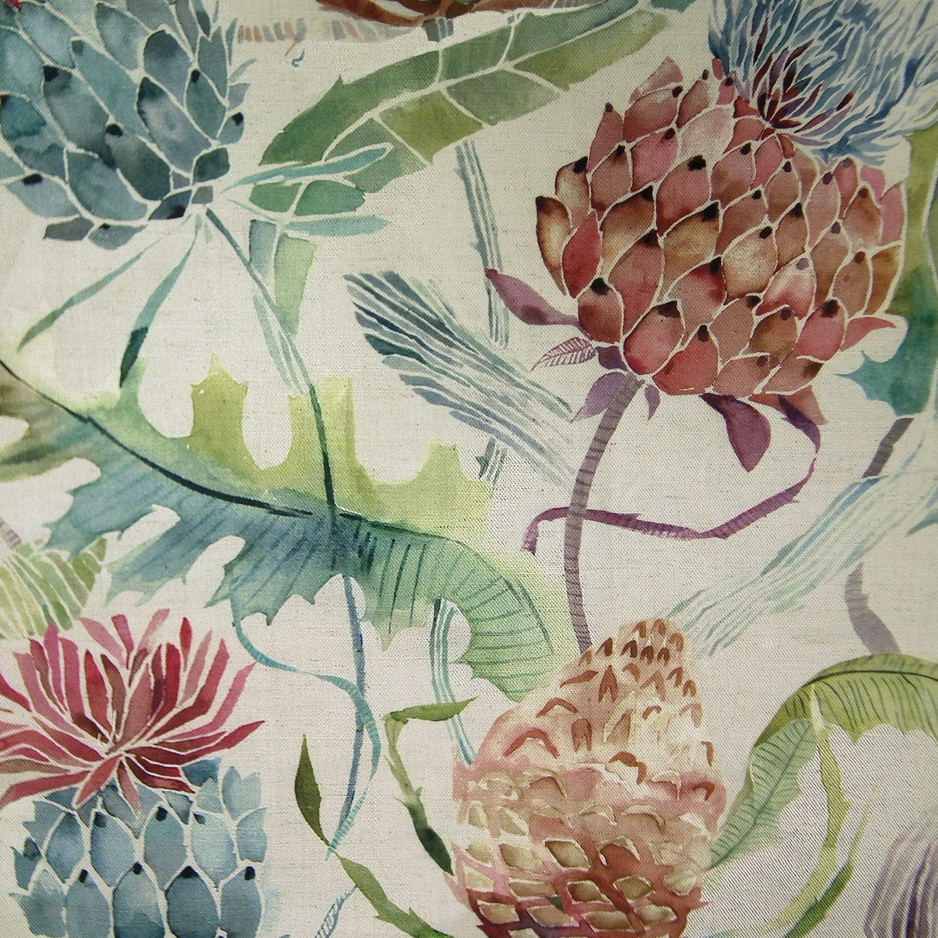 Image of Voyage Meadwell Pomegranate Curtain Fabric