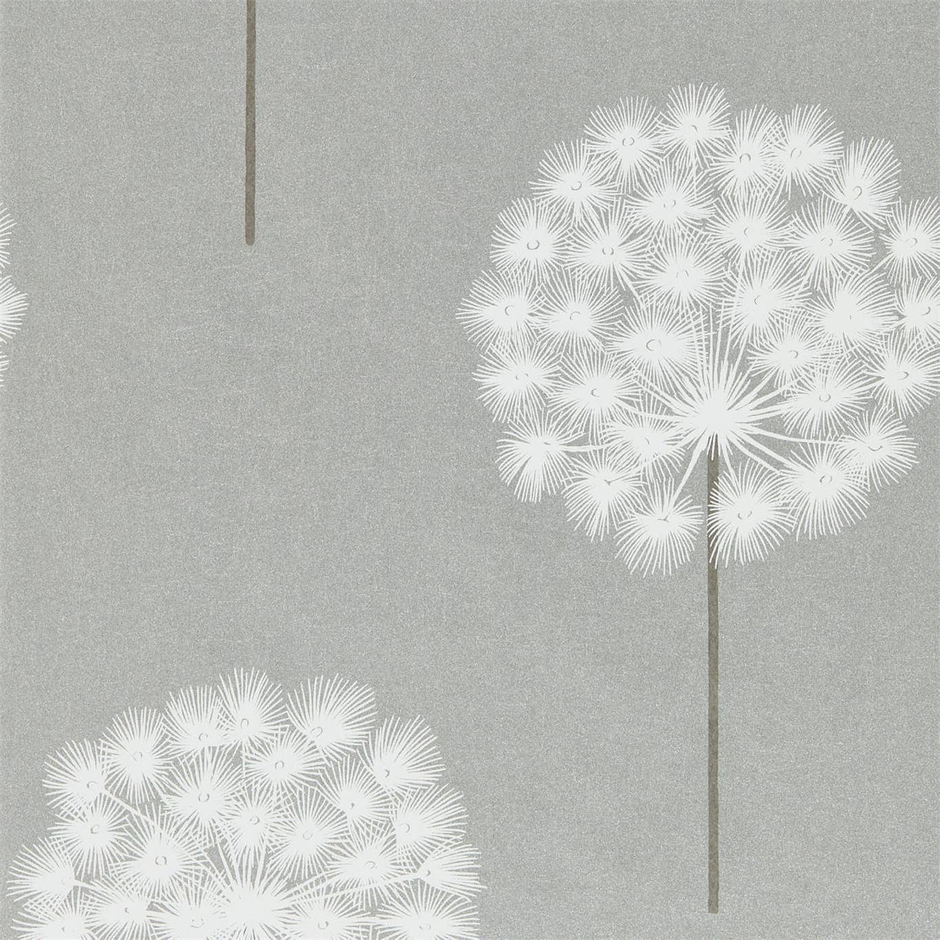 Image of Harlequin Amity Silver/Chalk Wallpaper 111889