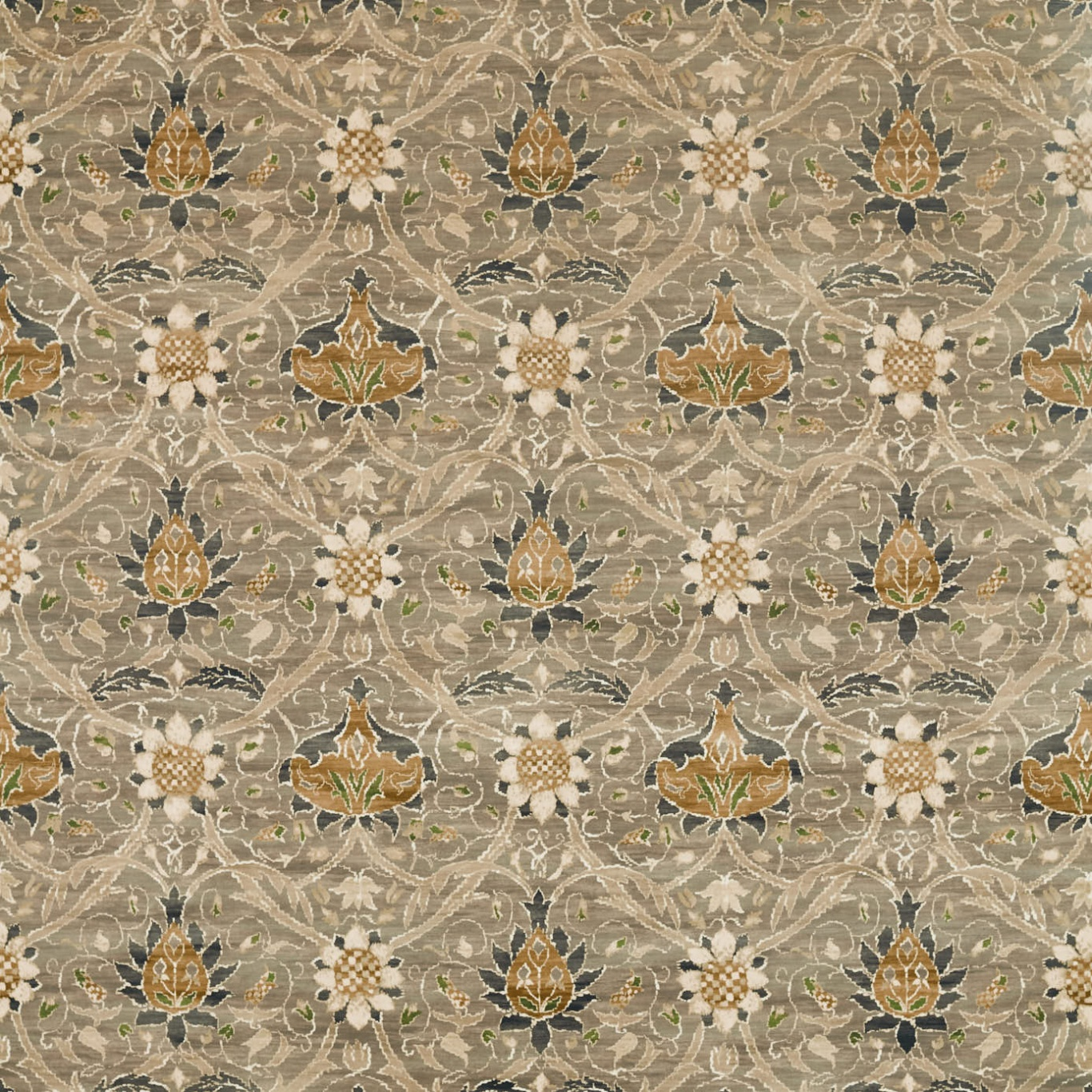 Image of Morris & Co Montreal Velvet Grey/Charcoal Fabric 226390