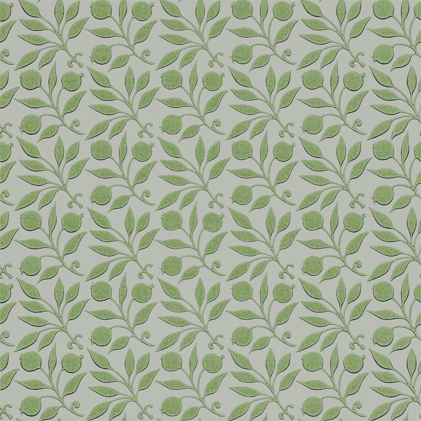 Image of Morris & Co Rosehip Thyme Wallpaper 214708