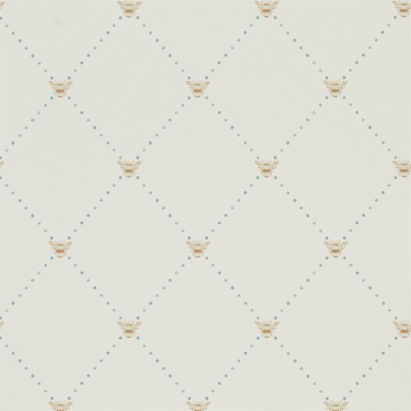 Image of Sanderson Home Nectar Copper/Denim Wallpaper 216357