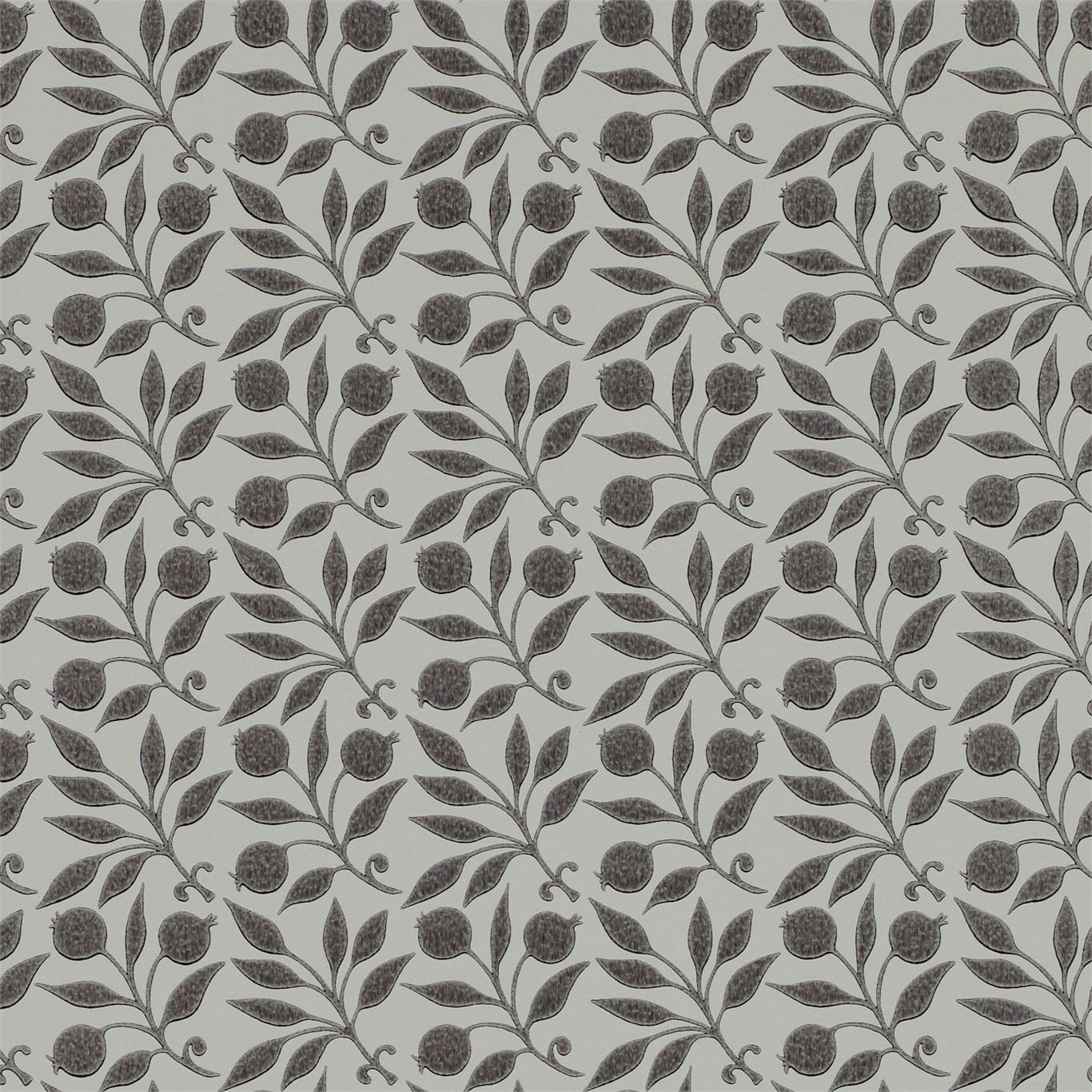 Image of Morris & Co Rosehip Black Wallpaper 214706
