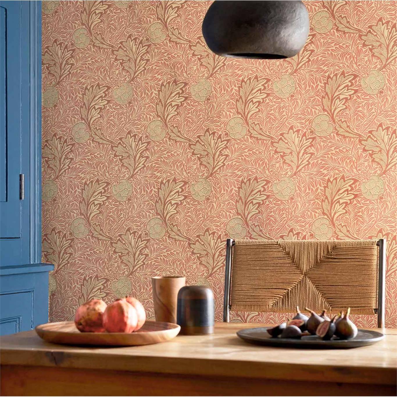 Morris & Co Apple Rust Gold Wallpaper 216688