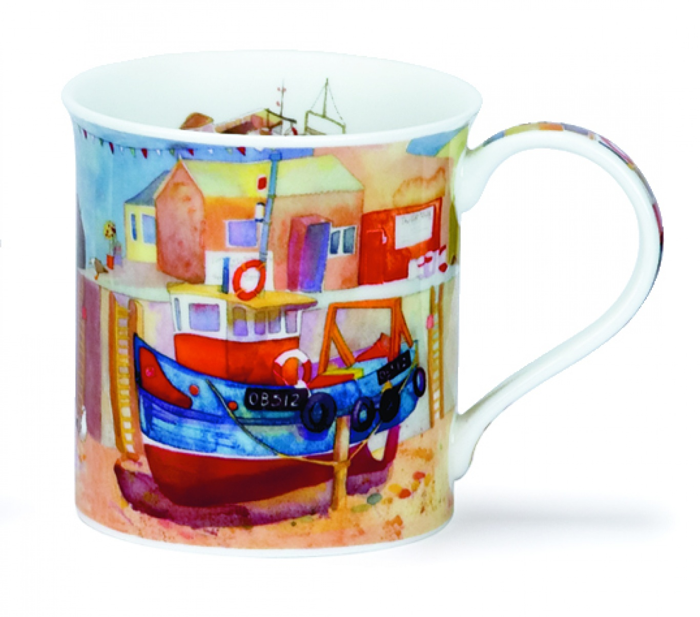 Image of Dunoon Fishing Boats Mug Harbour
