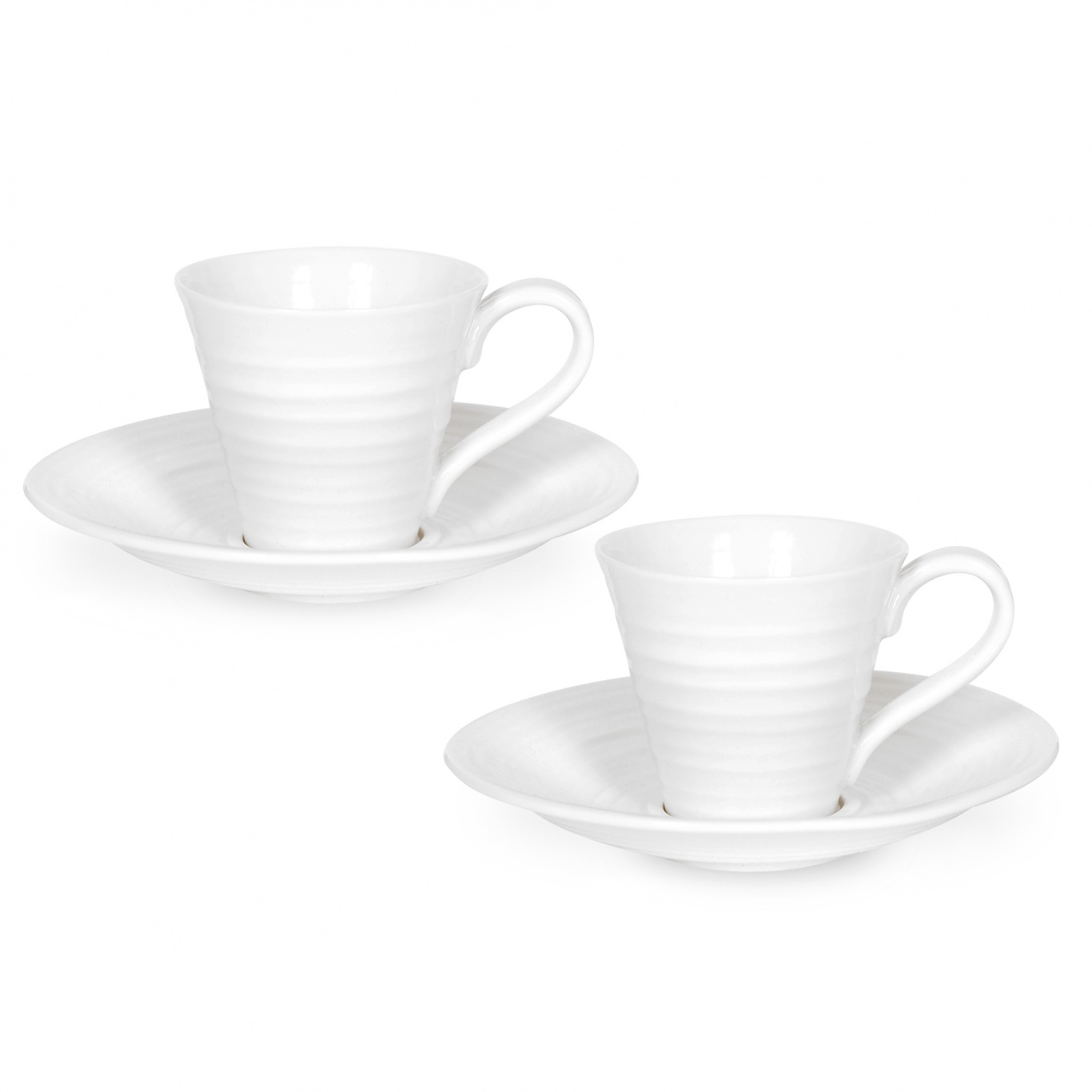 Image of Sophie Conran White Espresso Cup and Saucer 0.08L Set of 2