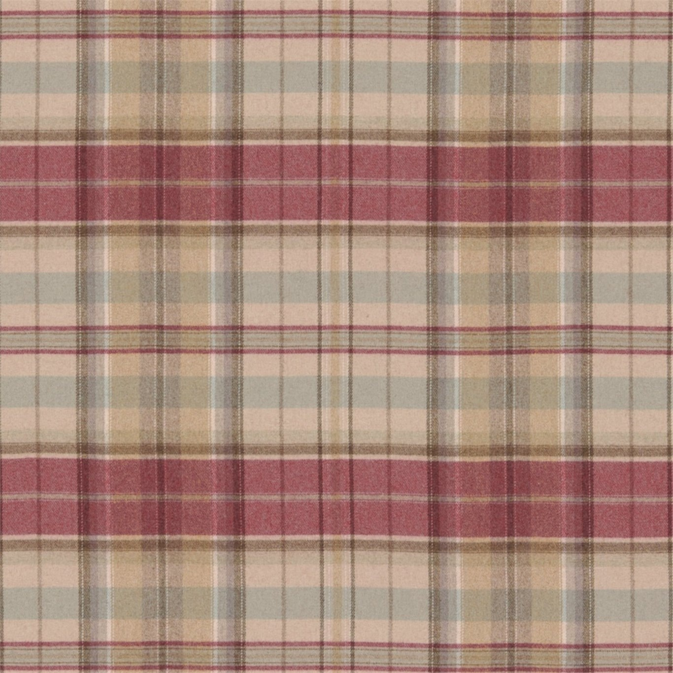 Image of Sanderson Byron Cherry/Biscuit Fabric 233243